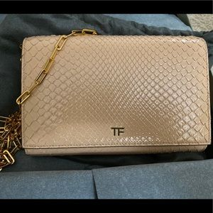 Tom Ford Python Clutch in Nude